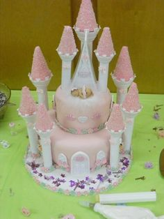 Princess Baby Shower Castle Cake
