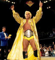 WCW World Heavyweight Champion Ric Flair Nwa Wrestling, World Championship Wrestling, Wrestling Stars, Wrestling Superstars, British Wrestling, Attitude Era, Wwe Tna, Ric Flair, Wwe Wrestlers