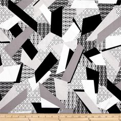 Essentials 8 Border Color Block Geo Grey from @fabricdotcom  Designed for StudioE Fabrics, this cotton print fabric is perfect for quilting, apparel, crafts, and home decor items.