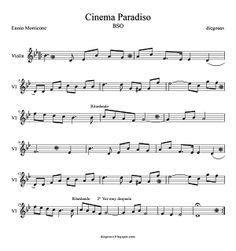 Partitura de Cinema Paradiso para Violín. Recomendado para Violinistas, por sus bellos solos de Violines.  ¿Perfección musical? Cinema Paradiso Violin Sheet Music (Scores). + partituras de Bandas Sonoras aquí