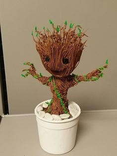 Use a Printer Pen to make your own creations--like Groot! 3d Drawing Pen, 3d Drawings, Drawing Ideas, 3d Doodle Pen, 3d Zeichenstift, Boli 3d, 3d Pen Stencils, 3 D, Stylo 3d