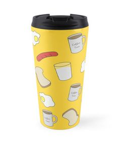 Breakfast Time. #pattern #travel #mug #ceramic #cultery #redbubble #linecircle #breakfast #coffee #mug #milk #egg