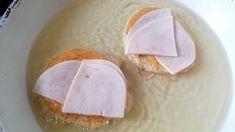 Sonkával sajttal töltött szénhidrátmentes diétás bundáskenyér - Salátagyár Camembert Cheese, Dairy, Eggs, Breakfast, Food, Morning Coffee, Essen, Egg, Meals