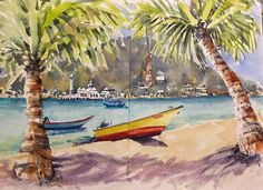 Perhentian Island outside New Cocohut looking across to the amazing mosque on the small island. Just love this place! Done as one of the pages  in my Derivan Concertina Sketchbook kindly given to me as a present from Patricia. #derivan #lovemalaysia #perhentian #malaysia #pulauperhentianbesar #pulauperhentiankecil #concertinasketchbook #cocohut #cocohutperhentian #danielsmithwatercolors #winsorandnewton