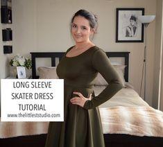 Long Sleeve Skater Dress Tutorial