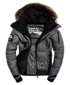 Superdry Sub Arctic Super Down Jacket Grey