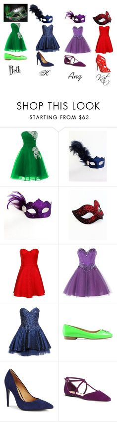 """""""The Bandits Halloween Ball"""" by pride-with-hate ❤ liked on Polyvore featuring Masquerade, Chi Chi, Anoushka G, Luxuar, Love Moschino, Isaac Mizrahi, Sole Society and Office"""