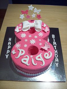 8 Cake For Ks Bday 8th Birthday Cakes Girls 9th