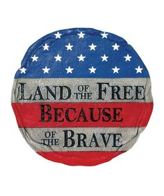 Take a look at this 'Land of the Free' Stepping Stone by Everyday Heroes: Home Décor on #zulily today!
