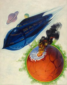 View Life Eternal, Thrilling Wonder Stories cover, February 1938 by Howard V. Brown on artnet. Browse upcoming and past auction lots by Howard V. Gabriel, Psychedelic Space, Sci Fi Spaceships, Retro Rocket, Classic Sci Fi, Brown Art, Retro Futuristic, Science Fiction Art, Sci Fi Art