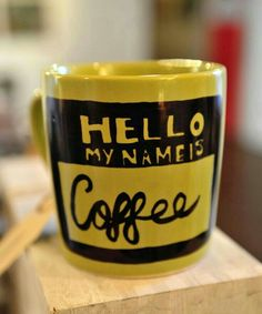 Hello mug yellow