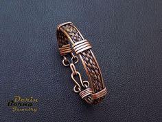Copper cuff men bracelet,Copper Wire Weaving Men Bracelet,Gift ...