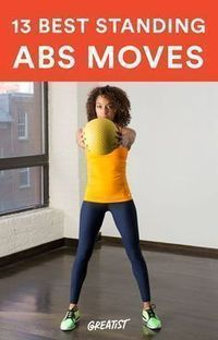 Say sayonara to mat work with these super-effective moves. -standing -abs -workout h Standing Ab Exercises, Ab Moves, Core Exercises, Standing Abs Workout, Workout Exercises, Workout Songs, Fitness Exercises, Workout Tips, Ab Mat Workout