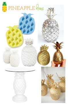 summer trend 2014: pineapple |  pineapple home  | #pineapple #trend #summer