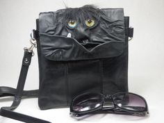 Monster Purse Handbag Black Leather Harry Potter by pippenwycks