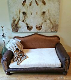 How to: DIY Dog Sofa | Redo It Yourself Inspirations :  DIY Leather Dog Bed                                                                                                                                                                                 More