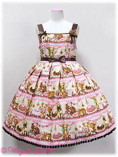 Angelic Pretty Little Bear's Cafe High Waist JSK any colour $250