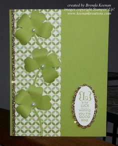 St Patricks Day card using the Pansy Punch for a clover :-)