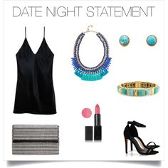 Make a statement on date night with gorgeous turquoise & lapis, accented with the perfect pink lip!