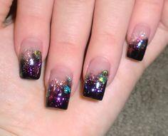 Glitter Acrylic Nails Designs and Ideas - Nail Design 2014 - Amazing Glitter Nail Art