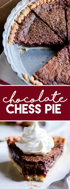 Chocolate Chess Pie https://www.somethingswanky.com/chocolate-chess-pie/?utm_campaign=coschedule&utm_source=pinterest&utm_medium=Something%20Swanky&utm_content=Chocolate%20Chess%20Pie