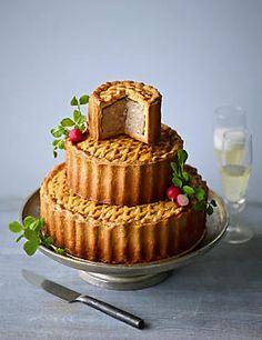 Alternative Wedding Cake - a three tier pork pie by Marks and Spencer