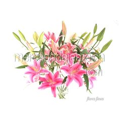 Arreglo Floral a Domicilio Lilies Rosa Siempre Amor !| Envia Flores