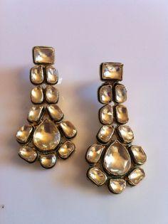 Vintage, Inspired Kundan earrings..#wedding #jewelry