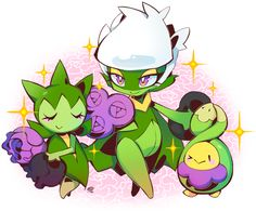 "milkayart: ""u have no idea how happy i was to get my own shiny budew who's now a beautiful roserade"