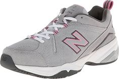 New Balance Women's WX608v4 Grey/Pink Sneaker 8.5 B (M)