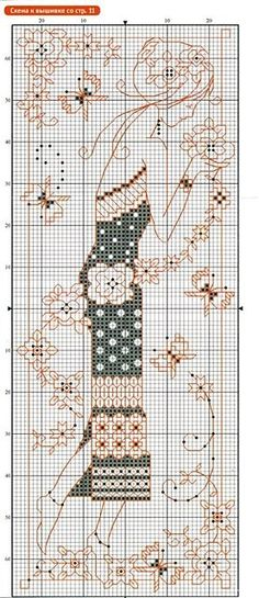 Cross-stitch Pretty Bookmark... no color chart available, just use the pattern chart as your color guide.. or choose your own colors... Gallery.ru / Фото #2 - с - Strawberry-chka