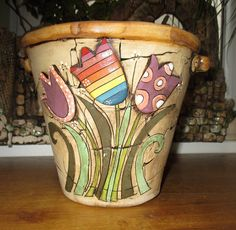 Obal+na+květináč+-+Tulipány+Horní+vnitřní+průměr+18,5cm+Spodní+průměr+11,5cm+Výška+18,5cm