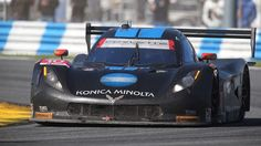 The No. 10 Konica Minolta Corvette DP for Wayne Taylor Racing driven by Jordan Tylor, Ricky Taylor and Max Angelelli races during the Rolex 24 At Daytona on Jan. 25, 2015 in Daytona Beach, Florida.