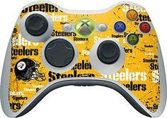 NFL Pittsburgh Steelers Xbox 360 Wireless Controller Skin - Pittsburgh Steelers - Blast Vinyl Decal Skin For Your Xbox 360 Wireless Controller