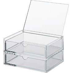 Klappdeckel-Acrylbox mit zwei Schubladen S