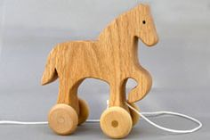 pull wooden animal toy