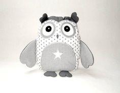 Star Owl Owl Bedroom Decor Organic Owl TOY by Customquiltsbyeva