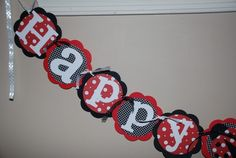 Seeing Spots Ladybug Birthday Banner by PinkGrapefruitDesign, $30.00