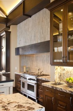 Paula Berg Design Associates #kitchen #interiordesign #mountain #home #detailing #custom #textures #cabinetry