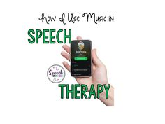 Read how I use music in speech therapy--playlists included!