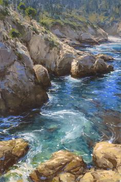 "Blue Fin Cove, 26"" x 16""  Oil, by John Burton http://www.raymarartcontest.com/2013"
