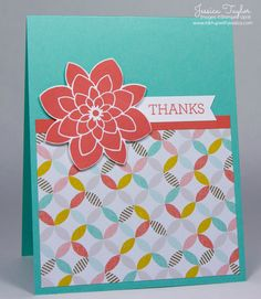 Thank You Card by Jessica Taylor with the Crazy About You stamp set from Stampin' Up!