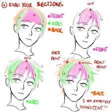 Resultado de imagen de boy short hair reference anime