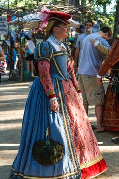 Tudor Costume, great colors
