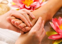 The Health benefits of Reflexology work by applying pressure to points in your feet that assist with interconnecting your nerve impulses and conduction points to your muscles & tissue