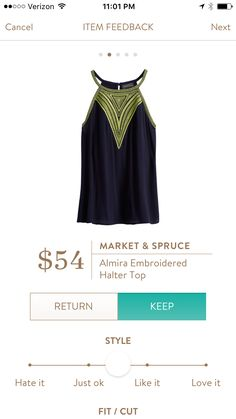 #stitchfix @stitchfix stitch fix https://www.stitchfix.com/referral/3590654 Almira Embroidered Halter Top