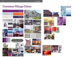 Completed The 1st Round Of Shipping Container Village Color Board