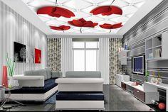 large mural customize Abstract flowers 3d ceiling wallpaper bedroom living room ceiling 3d ceiling stereoscopic wallpaper