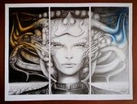 Drawing inspired by Giger