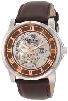 Kenneth Cole New York Mens KC1745 Automatic Silver and Brown Dial Watch $71.00